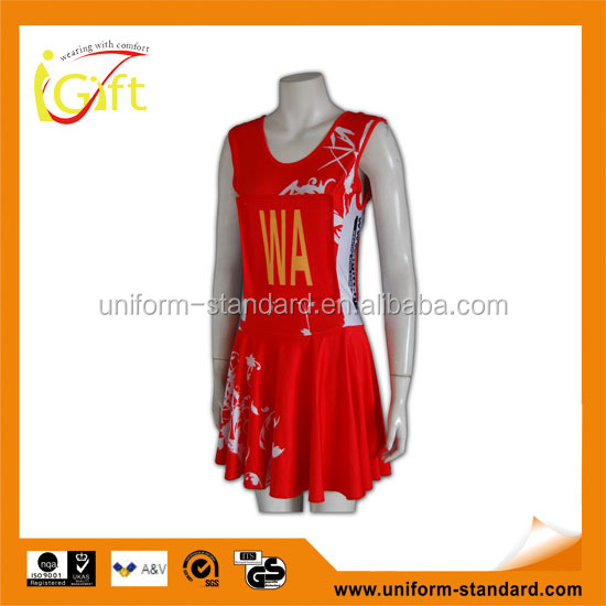 ISO9001/BSCI Manufature red sublimation stylish college cheerleading uniform