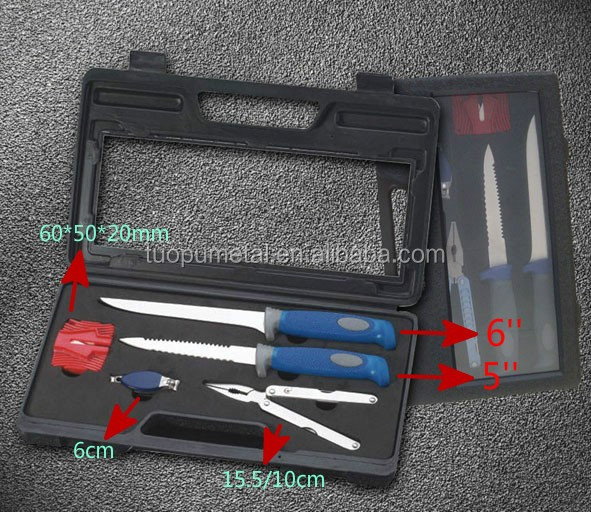 5pieces Knife Kit Fish Fillet Knife Set In Carry Case