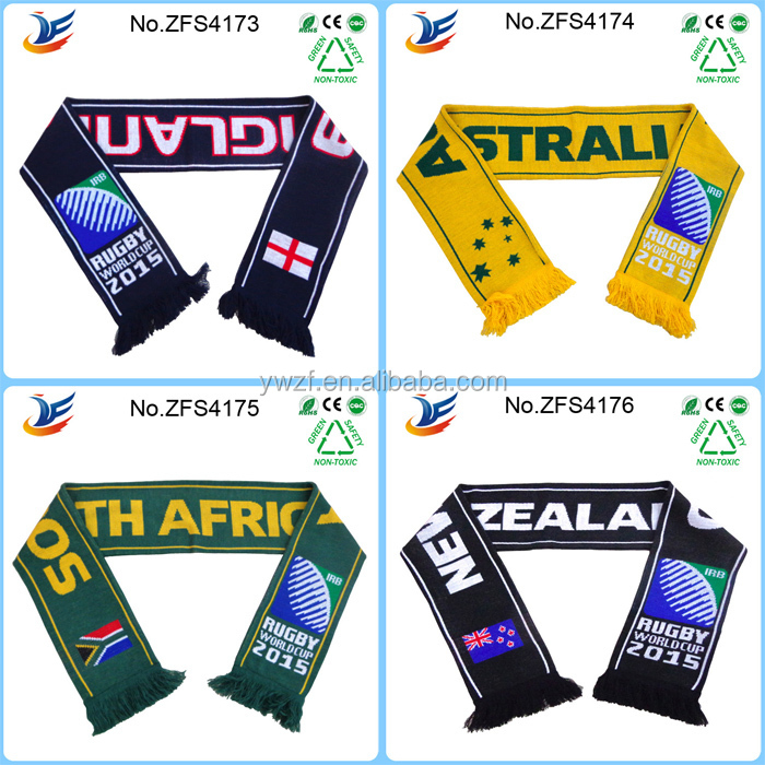 2016 Euro Cup New Design Sport Scarf Great Quality eyelet fabric Scarf