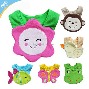 Durable & Suitable Teething & Feeding Terry Animal bibs for Babies to Toddlers