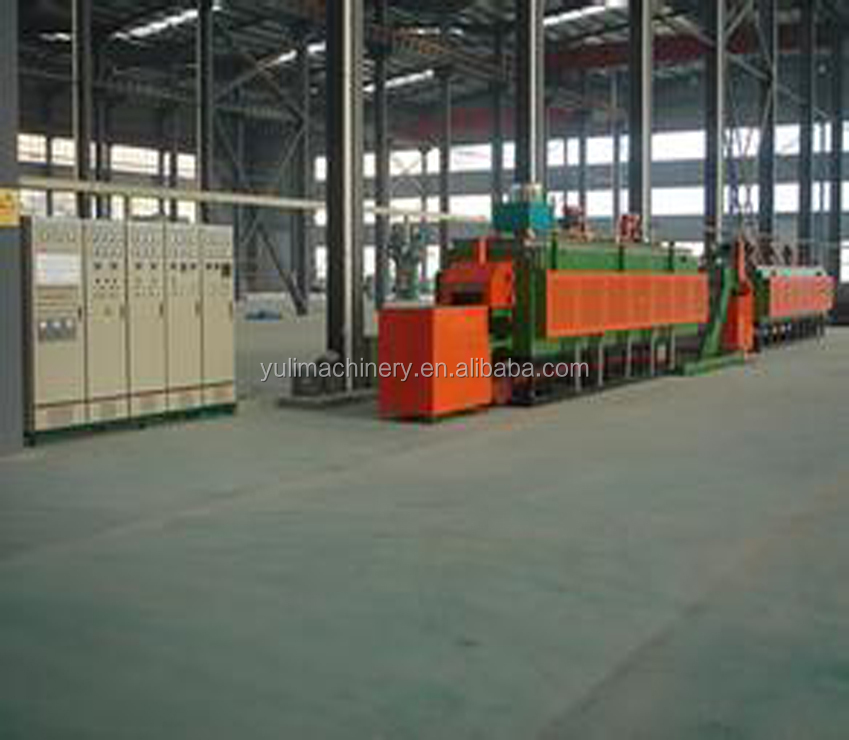 950 degree continuous mesh belt muffle quenching hardening furnace 650 degree tempering furnace