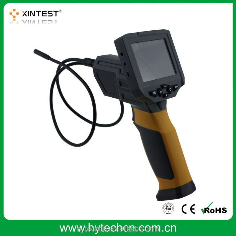 "HT-660 3.5"" LCD Inspection camera 8.5mm borescope endoscope zoom rotate video"