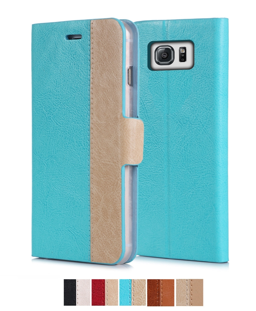 Fashionable color assorted genuine leather mobile phone case For Sumsung Note 5 Edge
