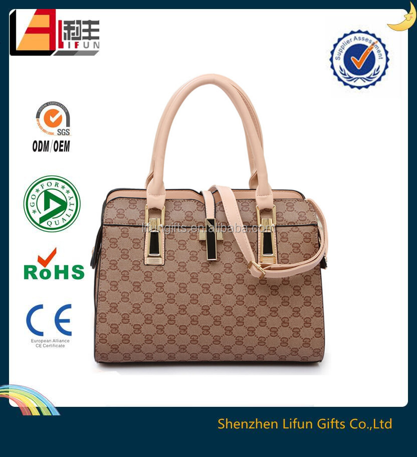 2015 PU leather hand bag, wholesale women's bag, handmade leather handbags