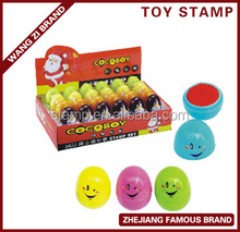 green product, DIY egg shaped self-inking cartoon toy stamp wz-4258
