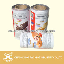 food wrapper foil roll film for cake/powder/snack packaging
