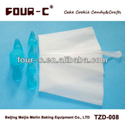 Pastry nozzle and pastry bag set,useful cake decorating kit