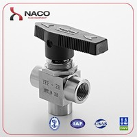 Online shopping 1/2 NPT Female SS304 One piece Instrumentation 3 Way Ball Valve