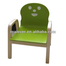 lovely birch wood children smiley armchair