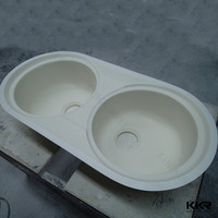 Modern design acrylic solid surface stone mini kitchen sink