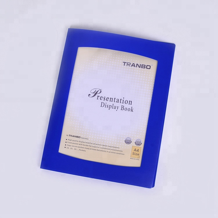 TRANBO Display Book A4 10 Pockets Refillable Document Clear folder <strong>Q10</strong>