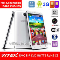 Android 4.2 Quad Core 5 inch FHD Full Lamination 8MP 3G Smart phone