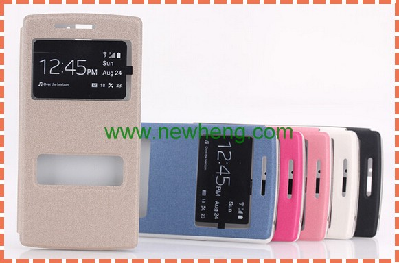 dual window leather case for galaxy alpha