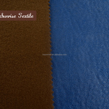 wholesale ultra suede fabric velvet bronzed leatherette material