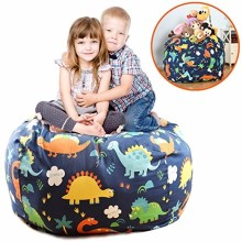 Stuffed Animal Storage Bean Bag Chair + Perfect Storage Solution For Extra Blankets / Pillows / Covers / Towels / Clothes