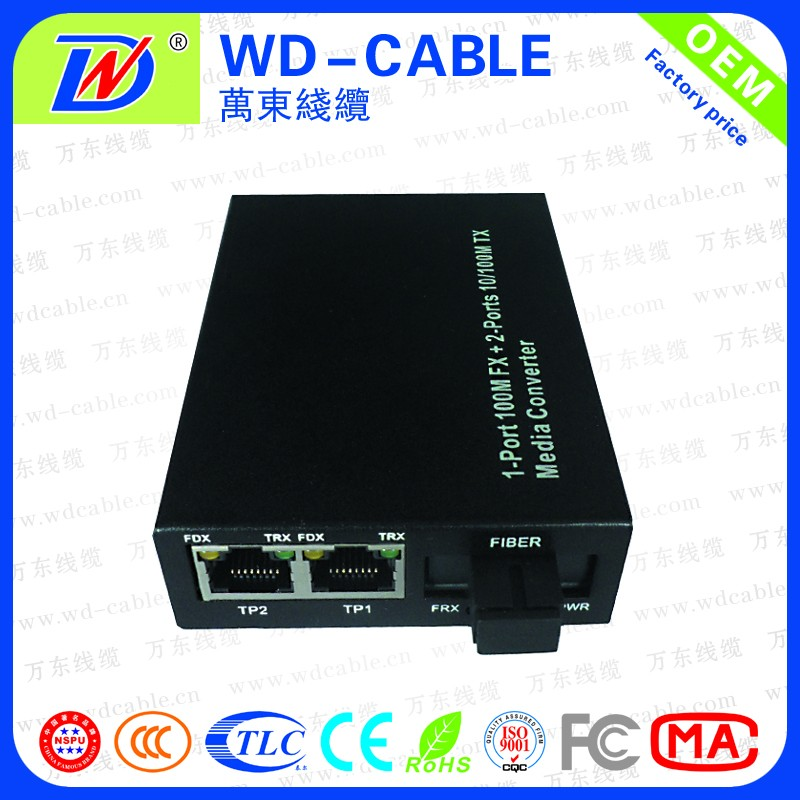 Network CATV 10/100/1000M Singlemode Single Fiber Media Converter