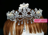 birthday party princess simple design crystal alloy crowns and tiaras