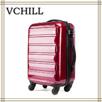 2015 new arrival red hard luggage trolley protective case luggage