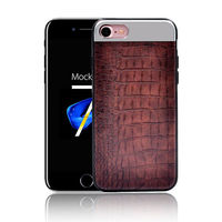 New Arrival Mobilephone Case Crocodile Stripe Metal Stitching Case Cover For Iphone 7plus