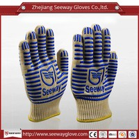 SEEWAY two sides dots heat resistant BBQ gloves kitchen safe cooking double gloves no skid hand protection gloves