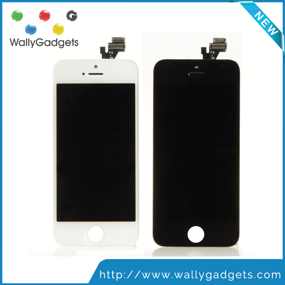 Wallygadgets cold press frame OEM touch screen replacement for iphone 5 aaa lcd and touch for cellphone