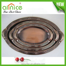 egg-shaped serving tray/metal material chocolate plate/tray for wedding