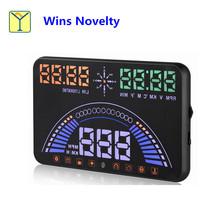 ISO9001 CE S7 5.8 Inch Display Local Time Vehicle Speed Car HUD Head up display