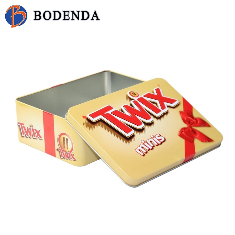 Custom metal wedding favor chocolate tin box packaging