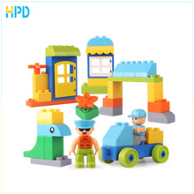 Creative Story Big Size Plastic Building Blocks Bricks Baby Toy Compatible With Duplo