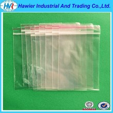 certified by SGS and ISO PE ziplock reclosable plastic bag