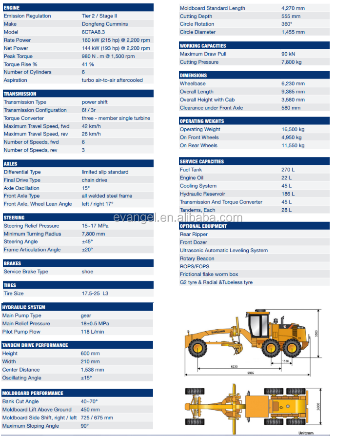 Hot !!! CLG 4215 Liugong Motor Grader Scarifier for Sale Popular