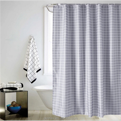 3d elegant double swag shower curtain with valance