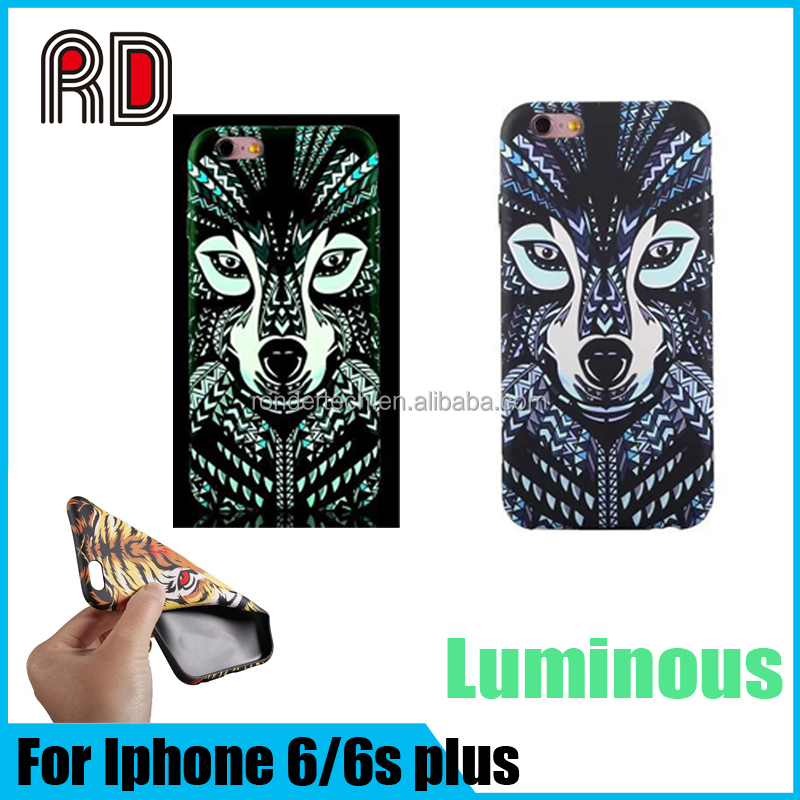 Top Quality Animal King Style luminous TPU Phone case for iphone 6