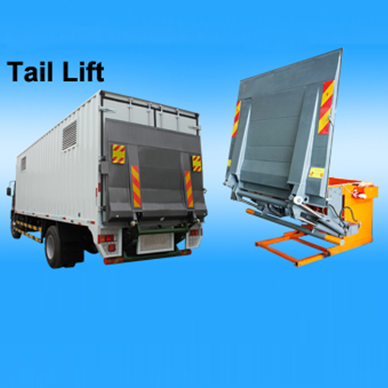 New 6 wheelers van cargo truck with tail lift platform(500kg-2000kg),tail lift truck,power gate truck