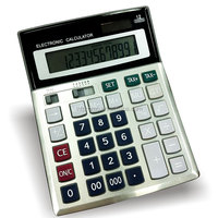 12 digit top quality desktop calculator with tax and step check function