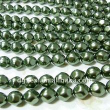 turquoise baroque glass pearl beads for rosary making