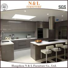 Germany European New model simple kitchen designs with kitchen island made in China kitchen