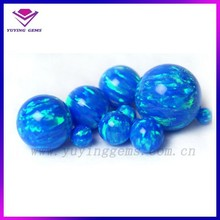 beautiful colors ball shaped blue crystal opal beads loose stone
