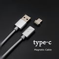 2017 Hot Wholesale 2 in 1 Flat Fast Charging Type C Magnetic Micro Usb Cable For Phone