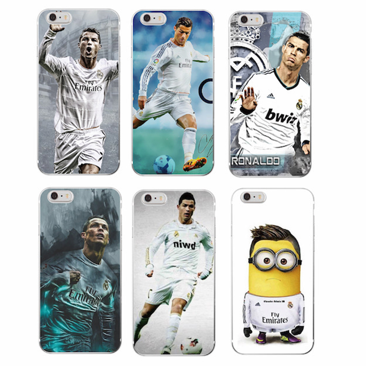 TOMOCOMO Football Madrid Cristiano Ronaldo CR7 Printed Case For Apple iphone 5 5S SE 5C 6 6S 7 8 Plus Soft Silicone Cover Phone