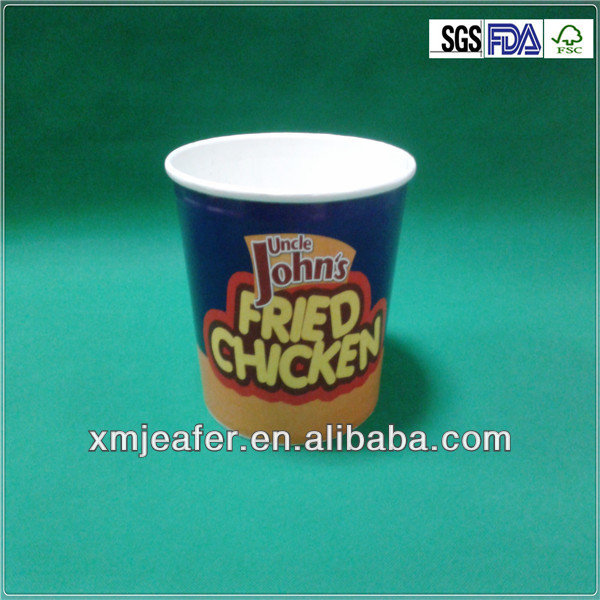 disposable fried paper chicken / popcorn bucket