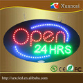 customized shape led open sign oval led signage