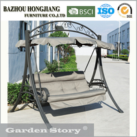 HJ-18# Modern Double Jhula Swing with cushion in outdoor