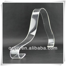 2013 Shenzhen simple clear acrylic shoes display stand riser