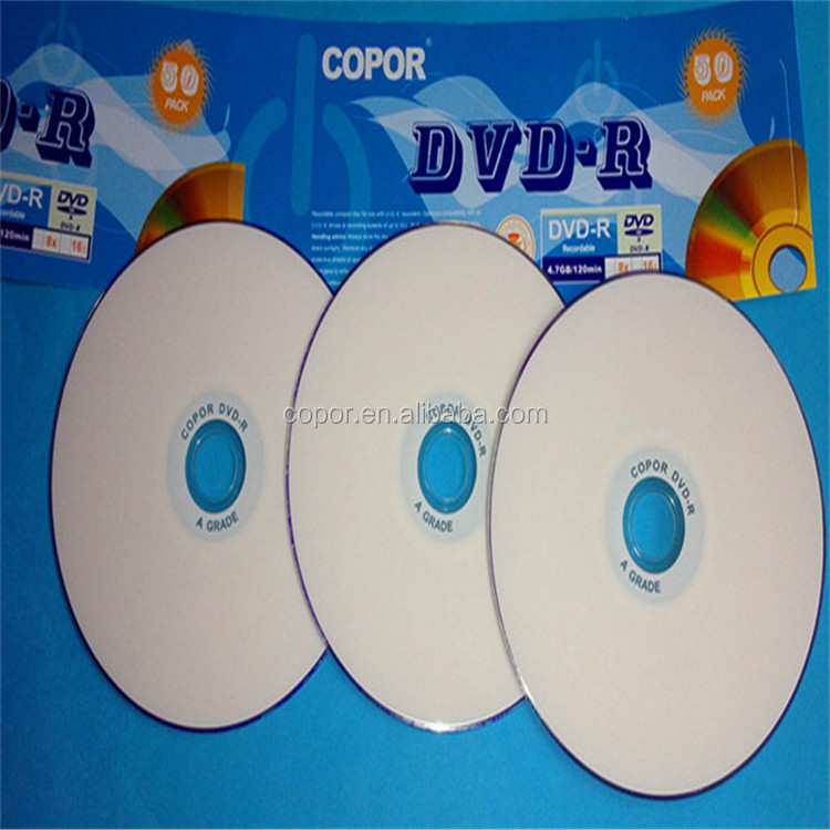 white Printable BLANK DVD/DVD-R/ DVD+R /DVDR in hot sale