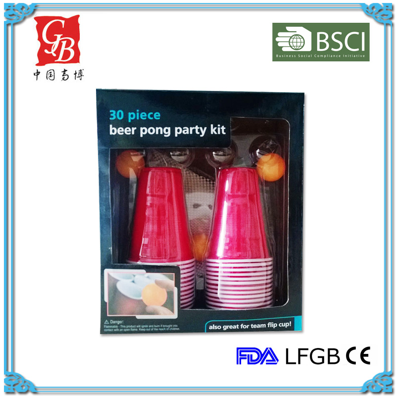 30pcs Beer pong party kit cup and ball game drinking game