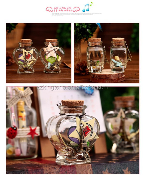 Clear Glass Bottles Vials Jars Containers Small Charm