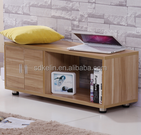 Modern wood LCD tv stand with cabinet