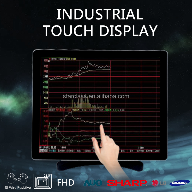 "touch screen open frame industrial display 15"" projector lcd panel for ATM,VTM,kiosk,gaming machine"