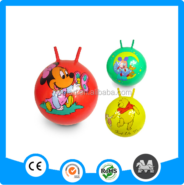 New design jumping kids bouncy ball handle